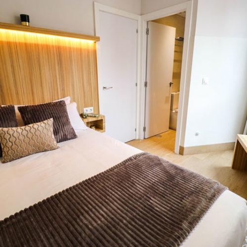 apartamento de 1 dormitorio cama